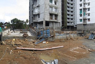 Apartments in Kochi work progress 3